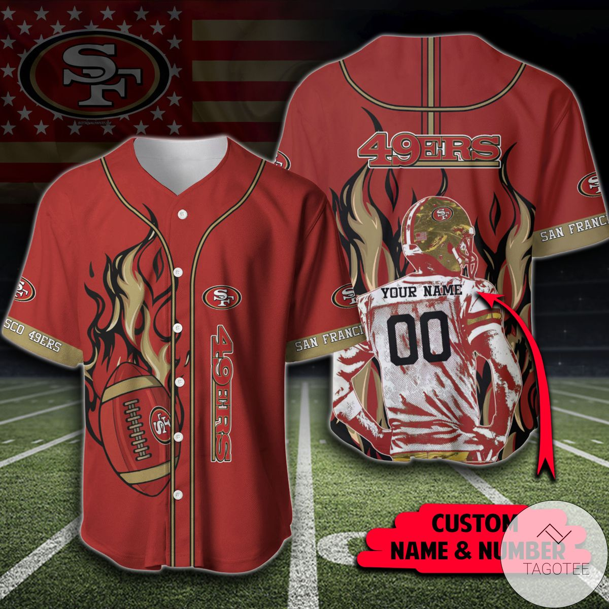 Mother's Day Gift Personalized Nfl San Francisco 49ers Shirt Baseball Jerseys