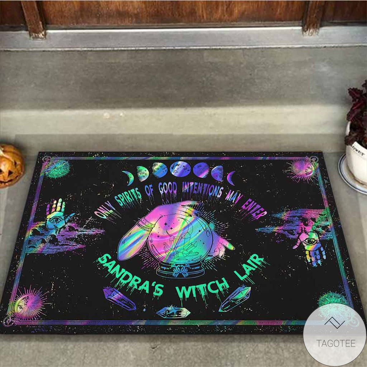 Top Personalized  Only Spirits Of Good Intentions May Enter Witch Doormat