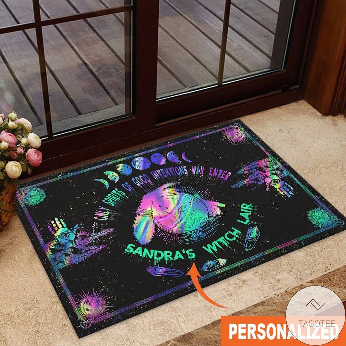 Personalized  Only Spirits Of Good Intentions May Enter Witch Doormat