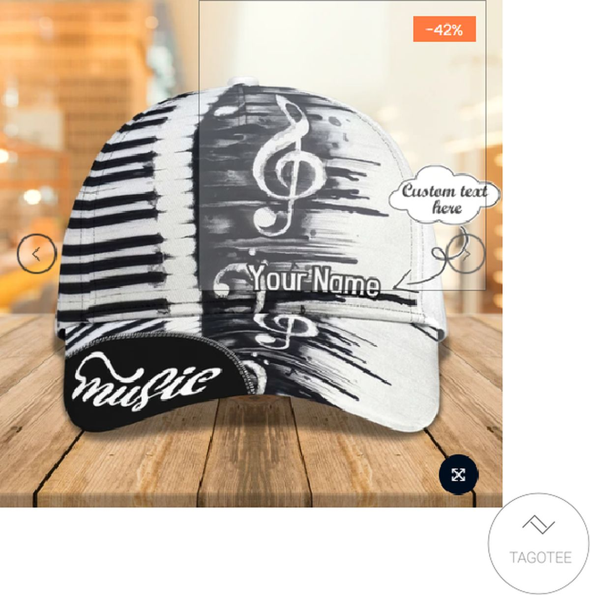 Personalized Piano Music 3d Cap