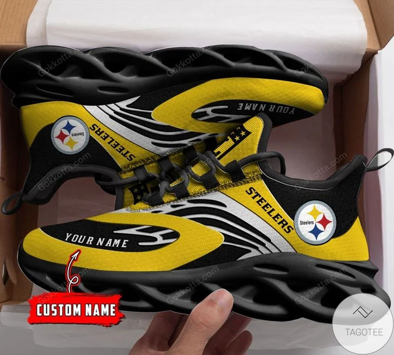 Popular Personalized Pittsburgh Steelers Sneaker Max Soul Shoes