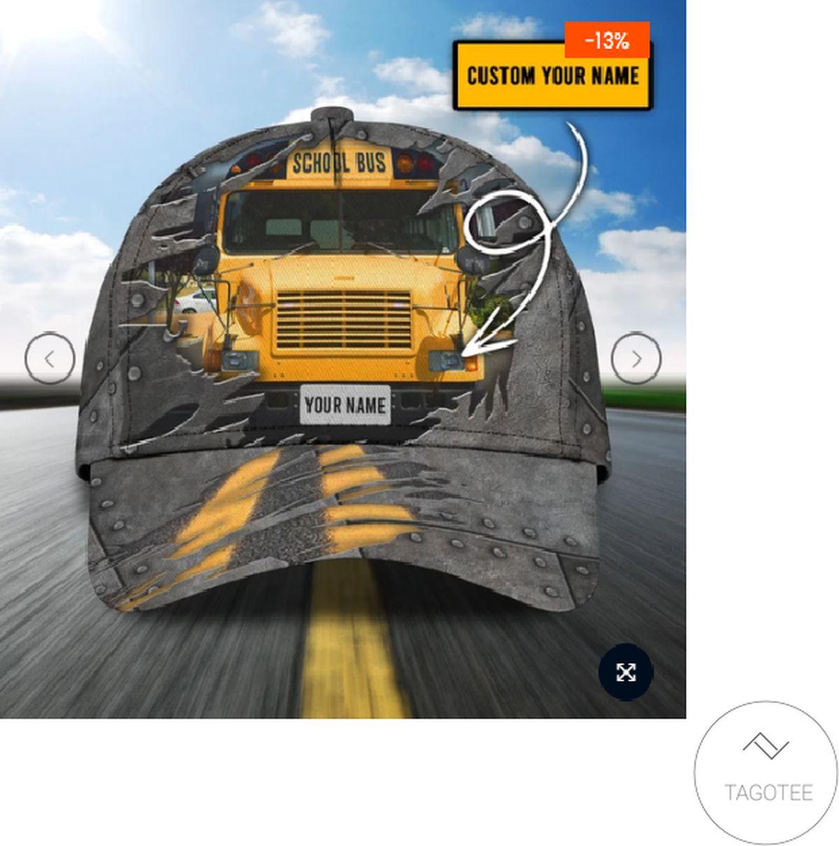 Personalized School Bus Driver Cap