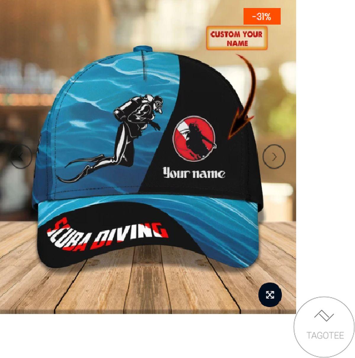 Personalized Scuba Diving Cap