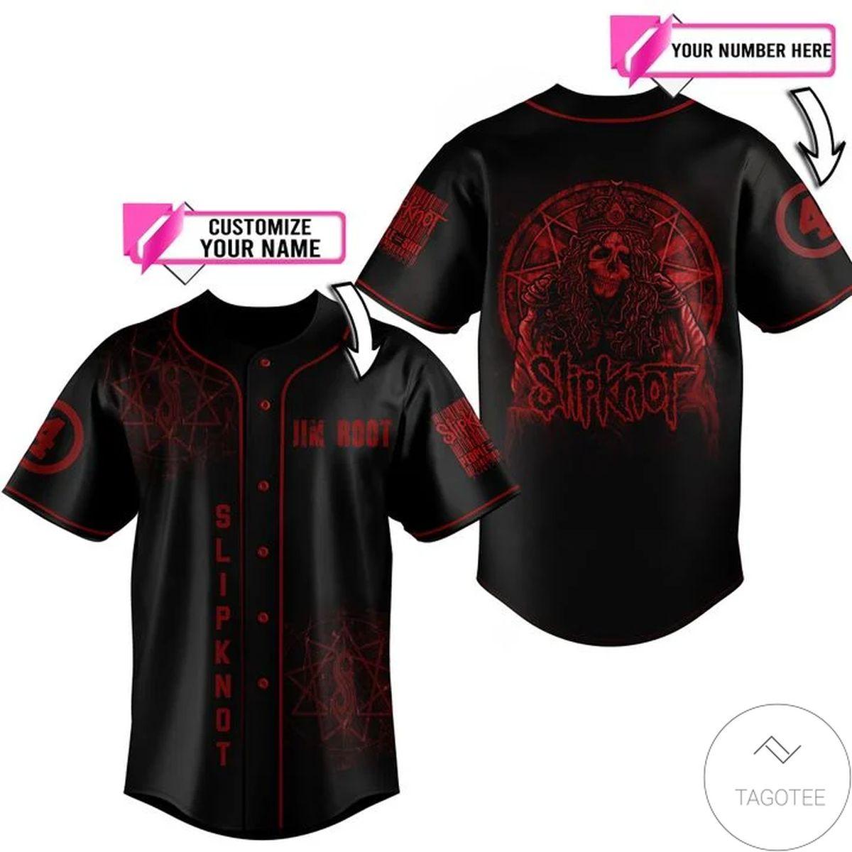 Personalized Slipknot Baseball Jersey