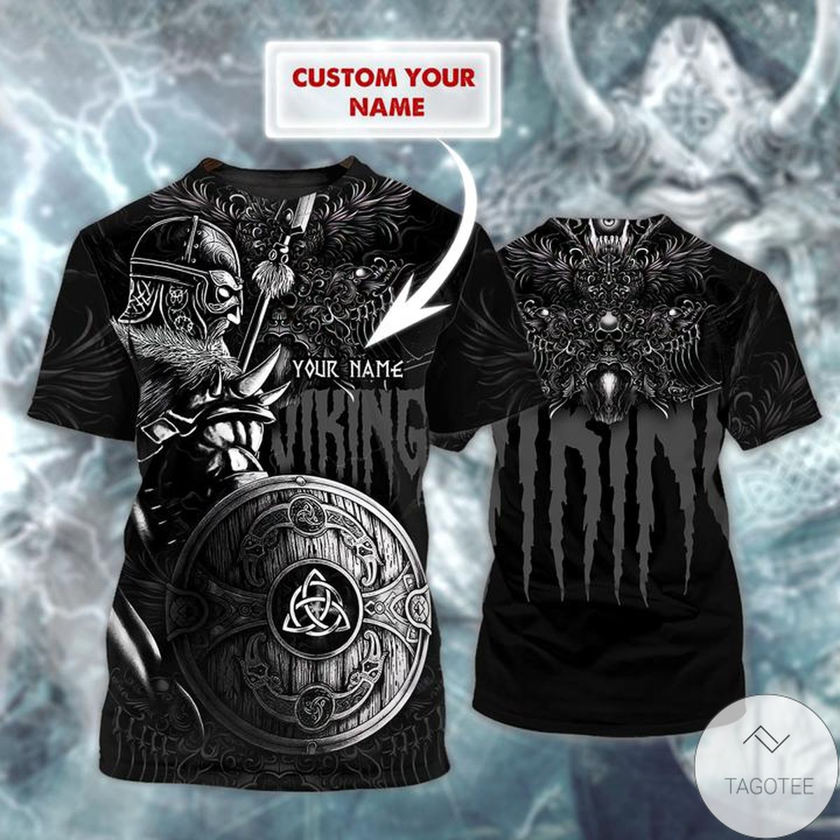 Personalized Viking 3d Shirt