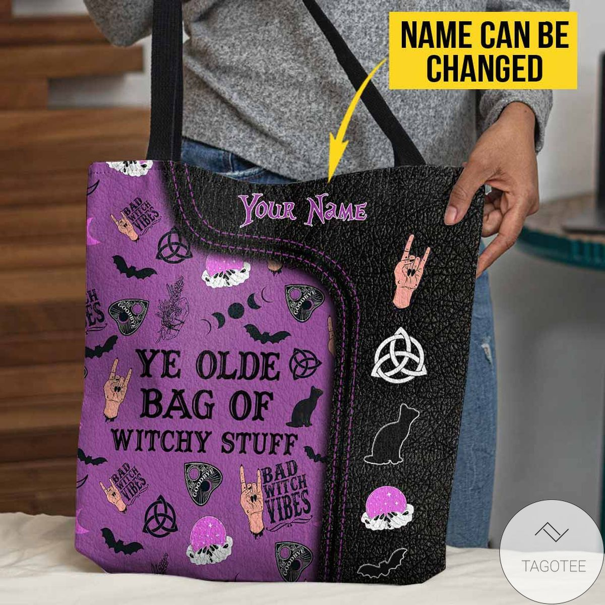 Personalized Ye Olde Bag Of Witchy Stuff Witch Tote Bag