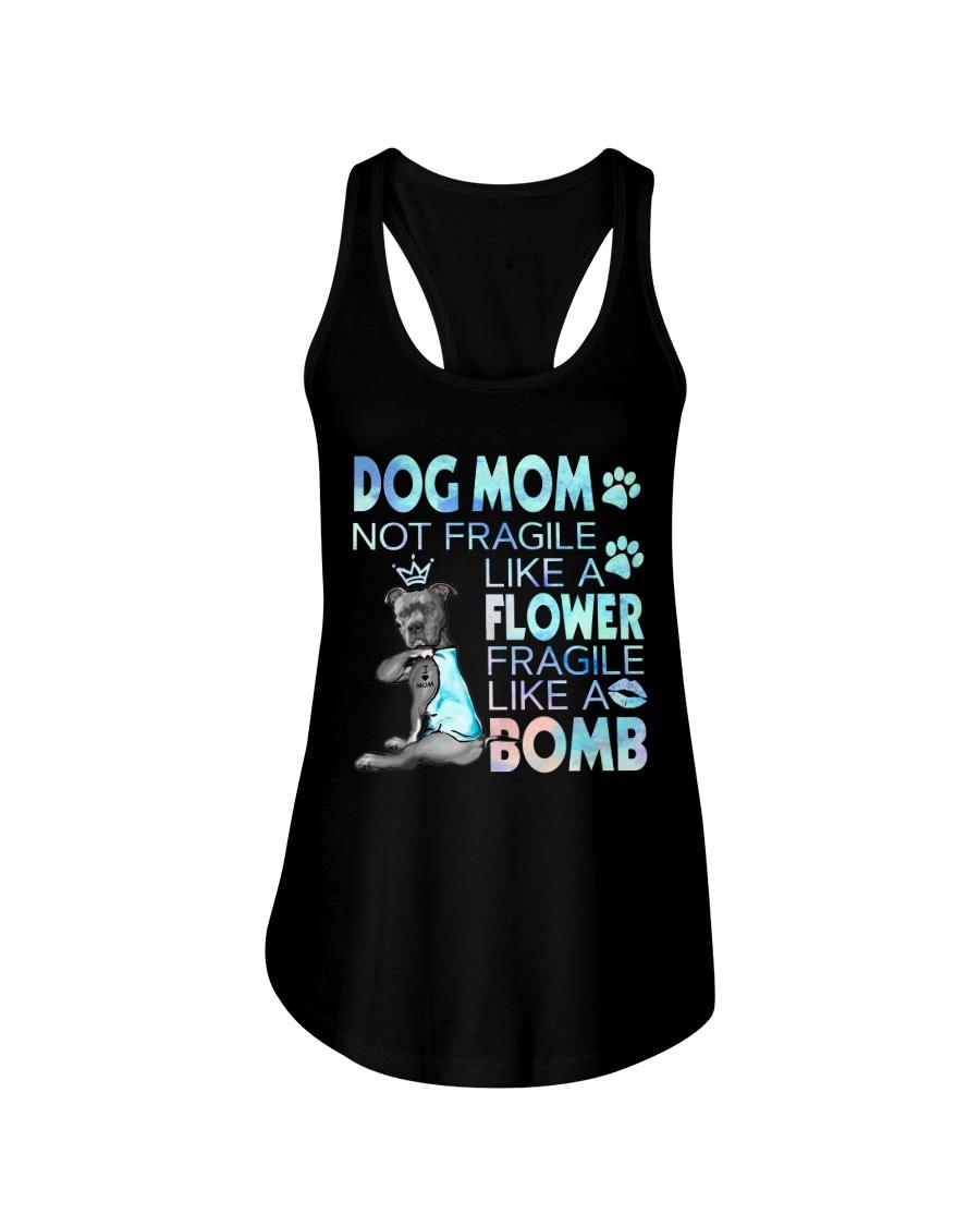 Pitbull Dog mom not fragile like a flower fragile like a bomb tank top