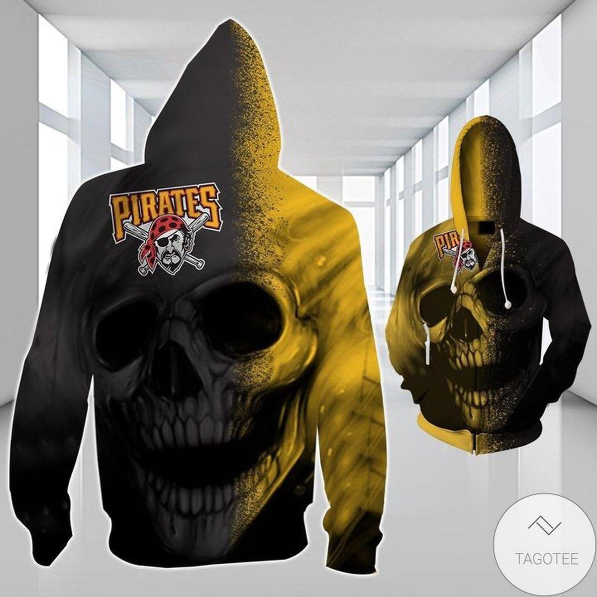 Pittsburgh Pirates Pirates Skull 3D Hoodie