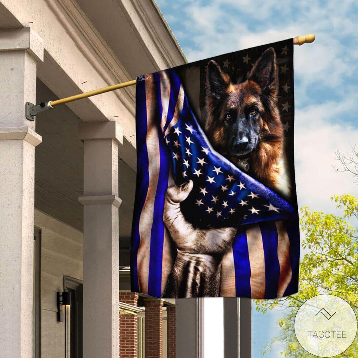 Police Dog K9 The Thin Blue Line Flag