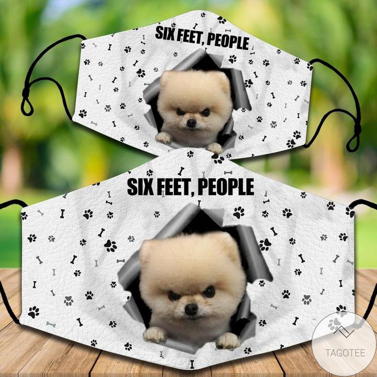 Adult Pomeranian Six Feet People Face Mask