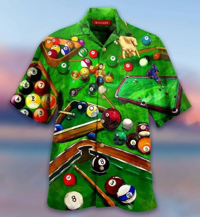 Pool Billiards Hawaiian Shirt