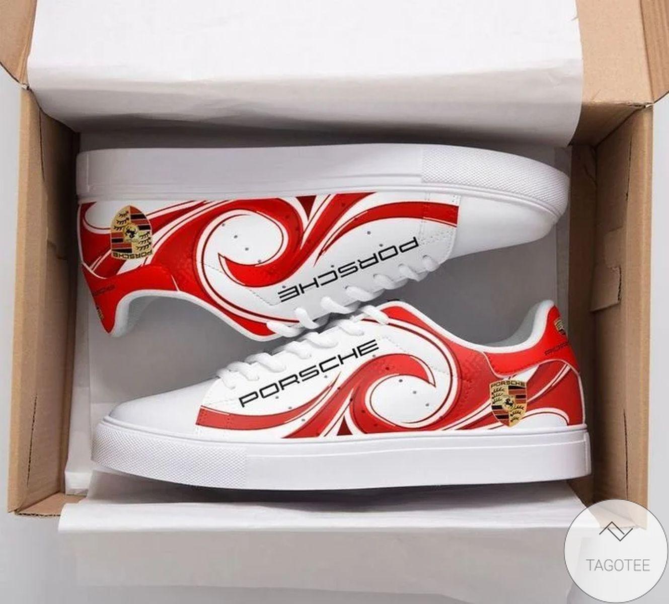 Adorable Porsche Red Stan Smith Shoes