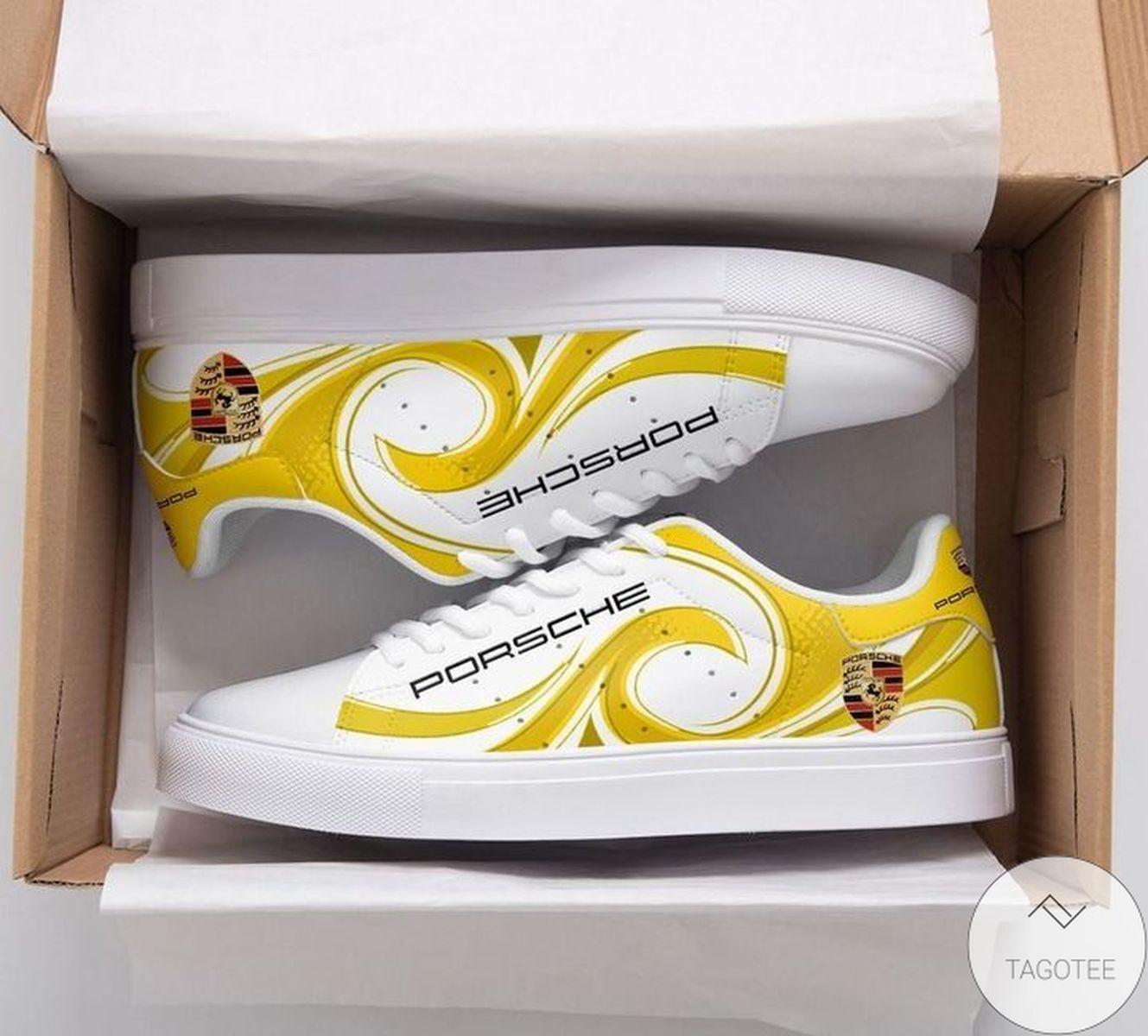 Porsche Yellow Stan Smith Shoes