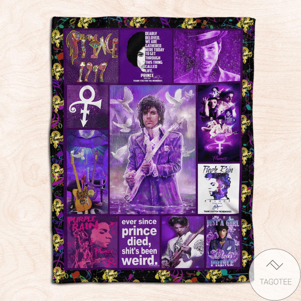 Best Gift Prince Purple Rain Blanket