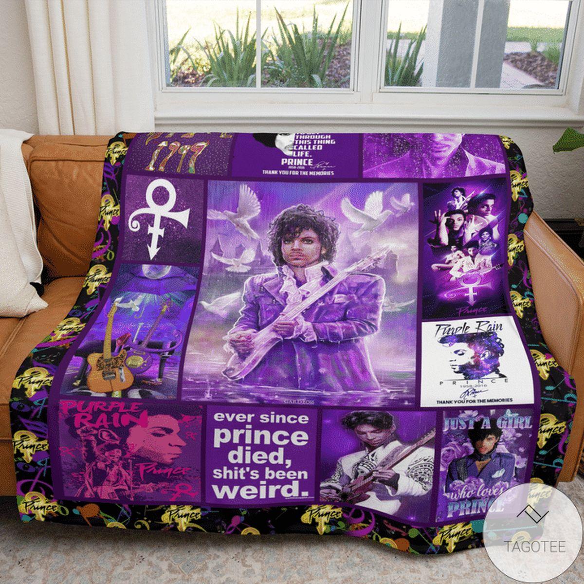 Prince Purple Rain Blanket