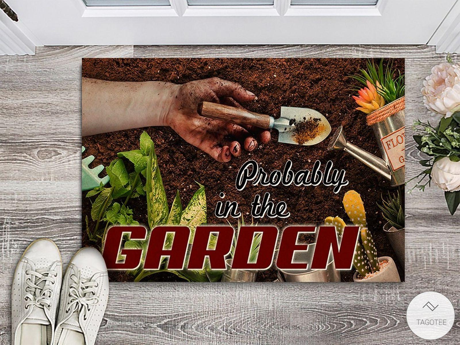 Probably In The Garden Doormat