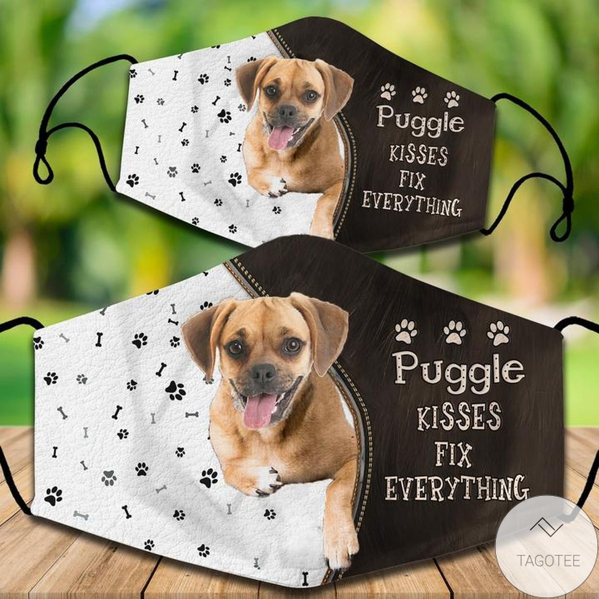 New Puggle Kisses Fix Everything Face Mask
