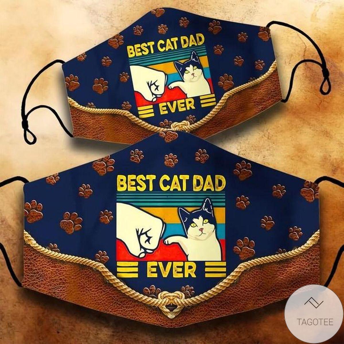 Retro Vintage Best Cat Dad Ever Cloth Face Mask