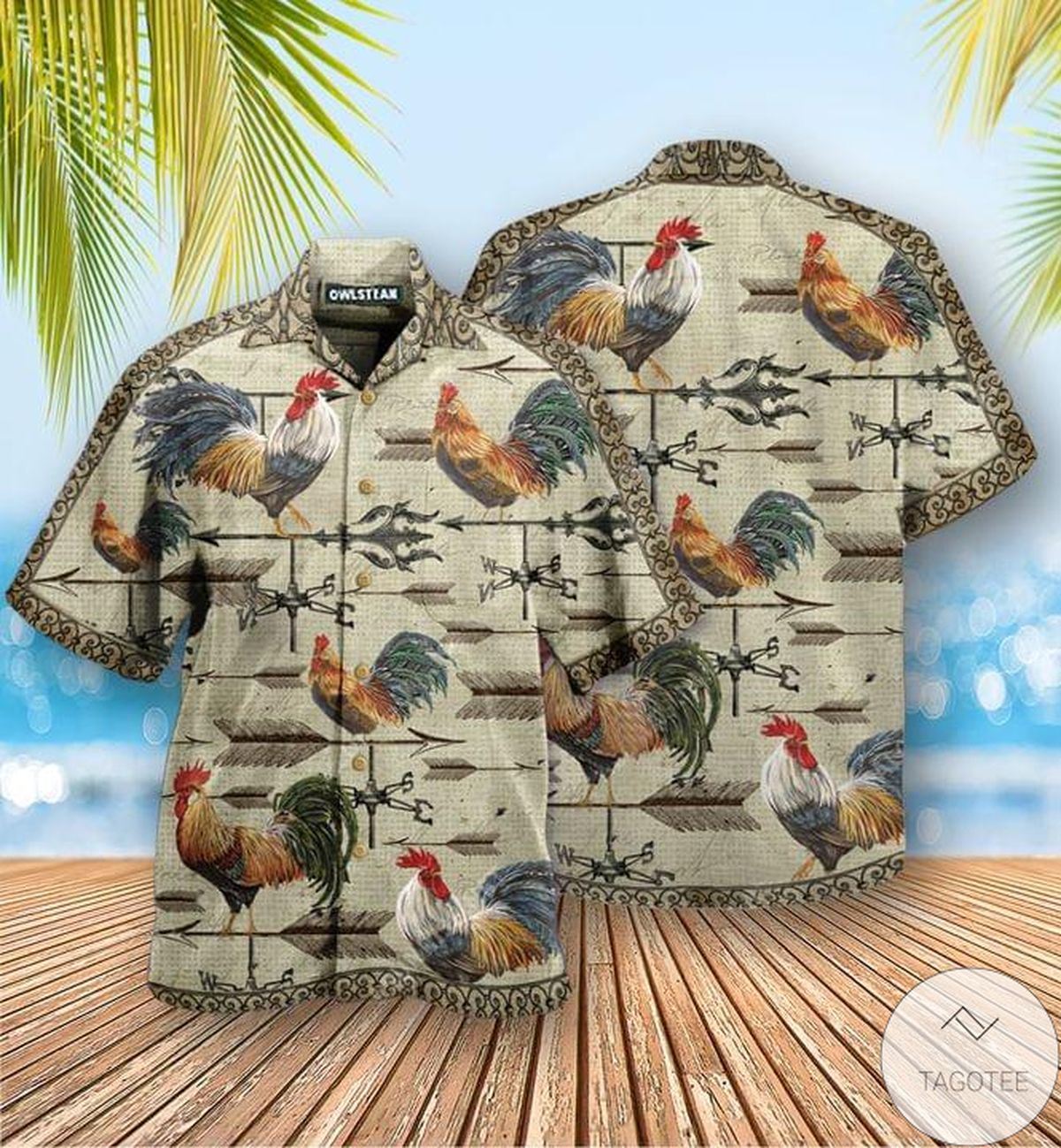 Rooster All Over Printed Hawaiian Shirt