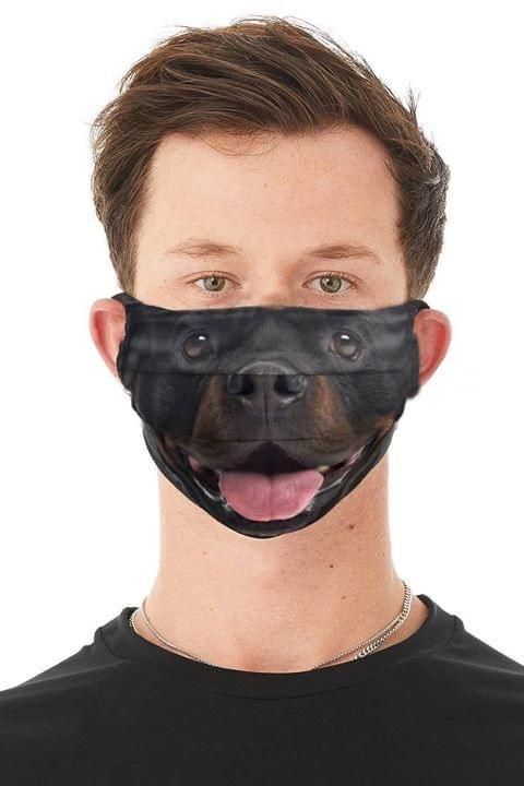 Rottweiler Dog 3D Face Mask