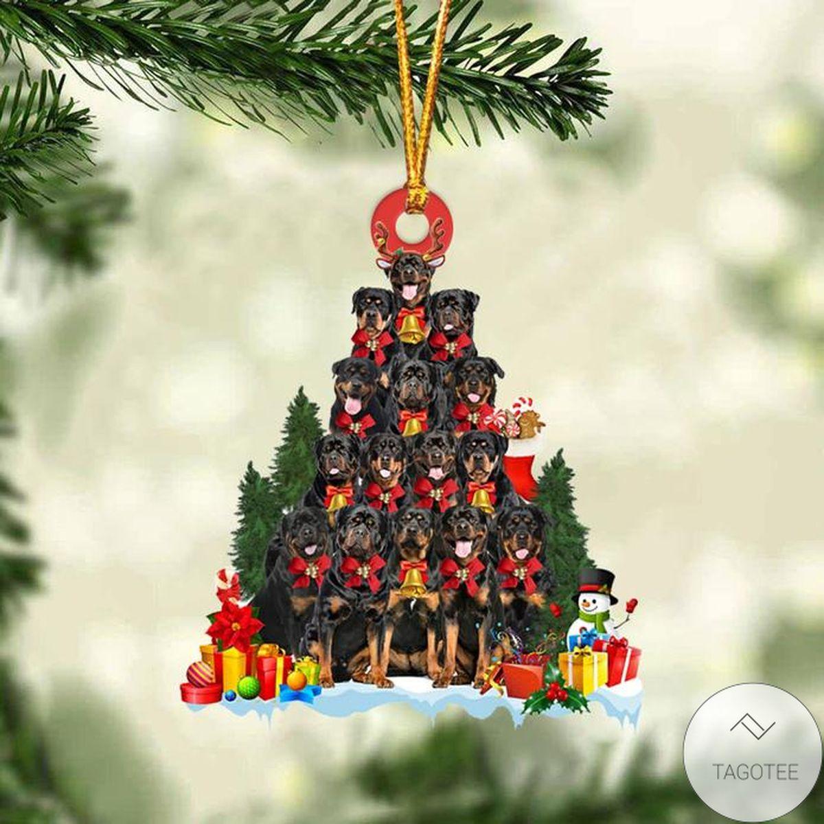 Rottweiler Dog Christmas Tree Ornament