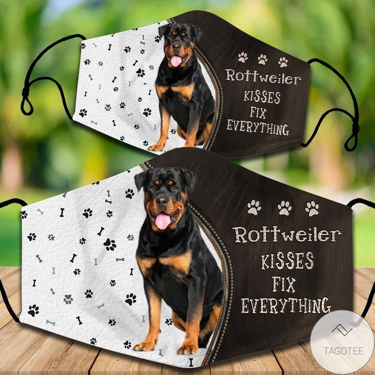 Free Rottweiler Kisses Fix Everything Face Mask