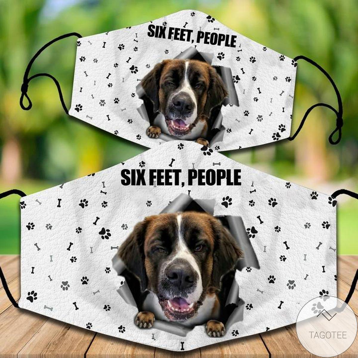 Saint Bernard Six Feet People Face Mask