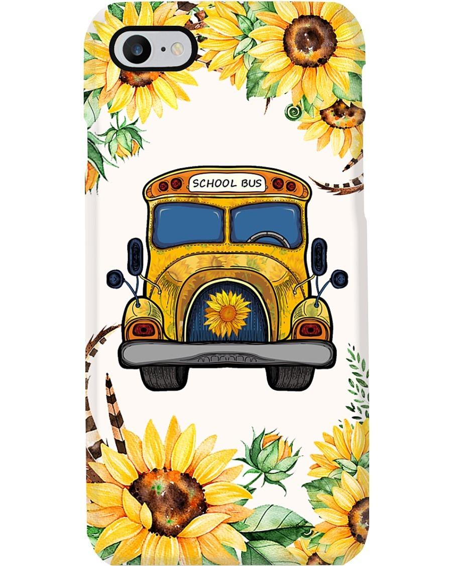 School Bus Sunflower phone case 7