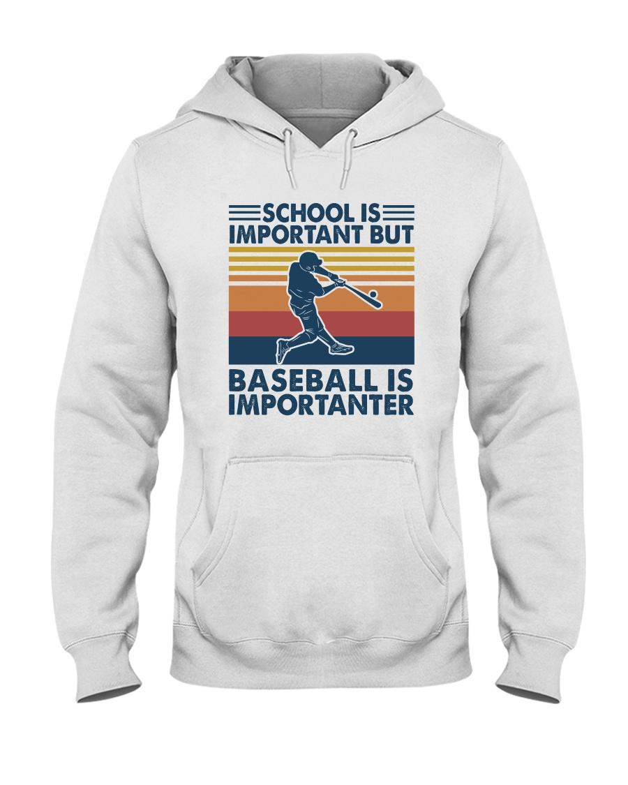 School is important but hockey is importanter hoodie