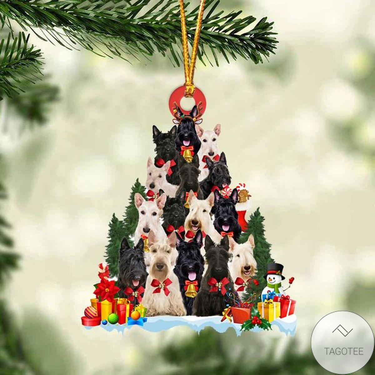 Scottish Terrier Dog Christmas Tree Ornament