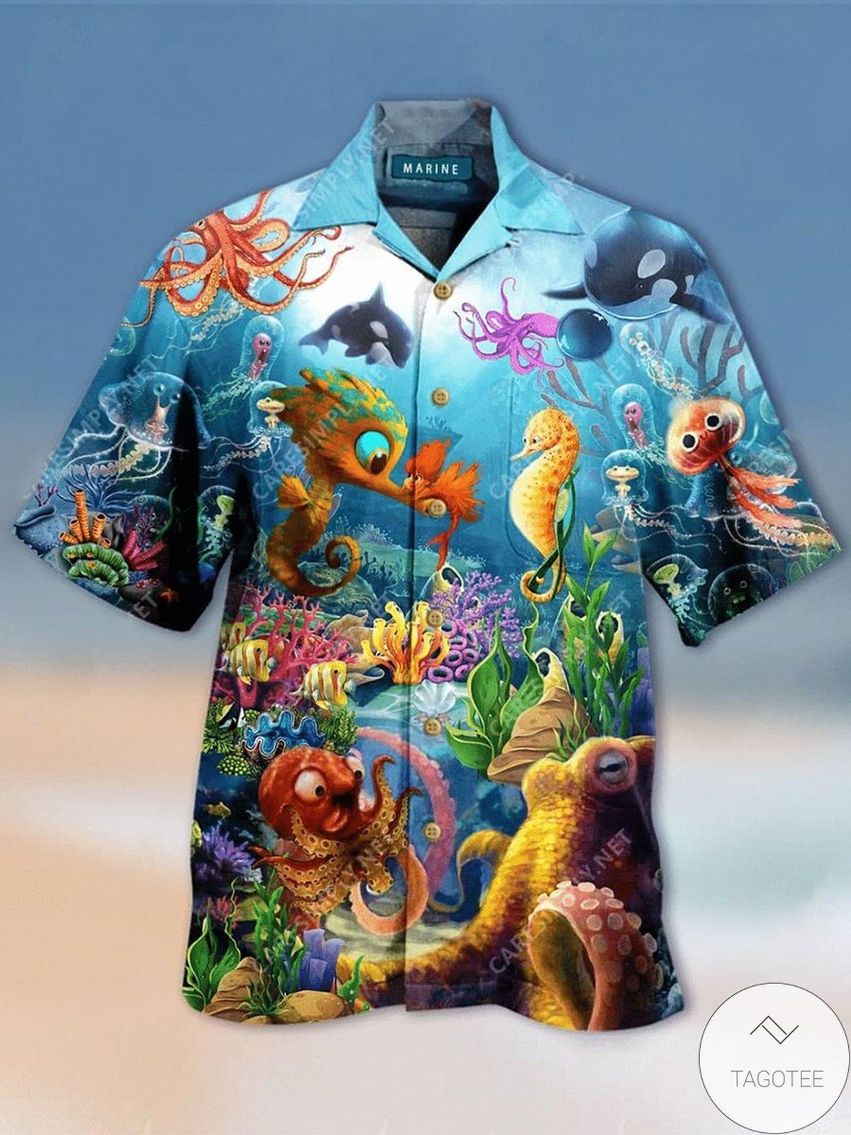 Sea Animals Unisex Hawaiian Shirt