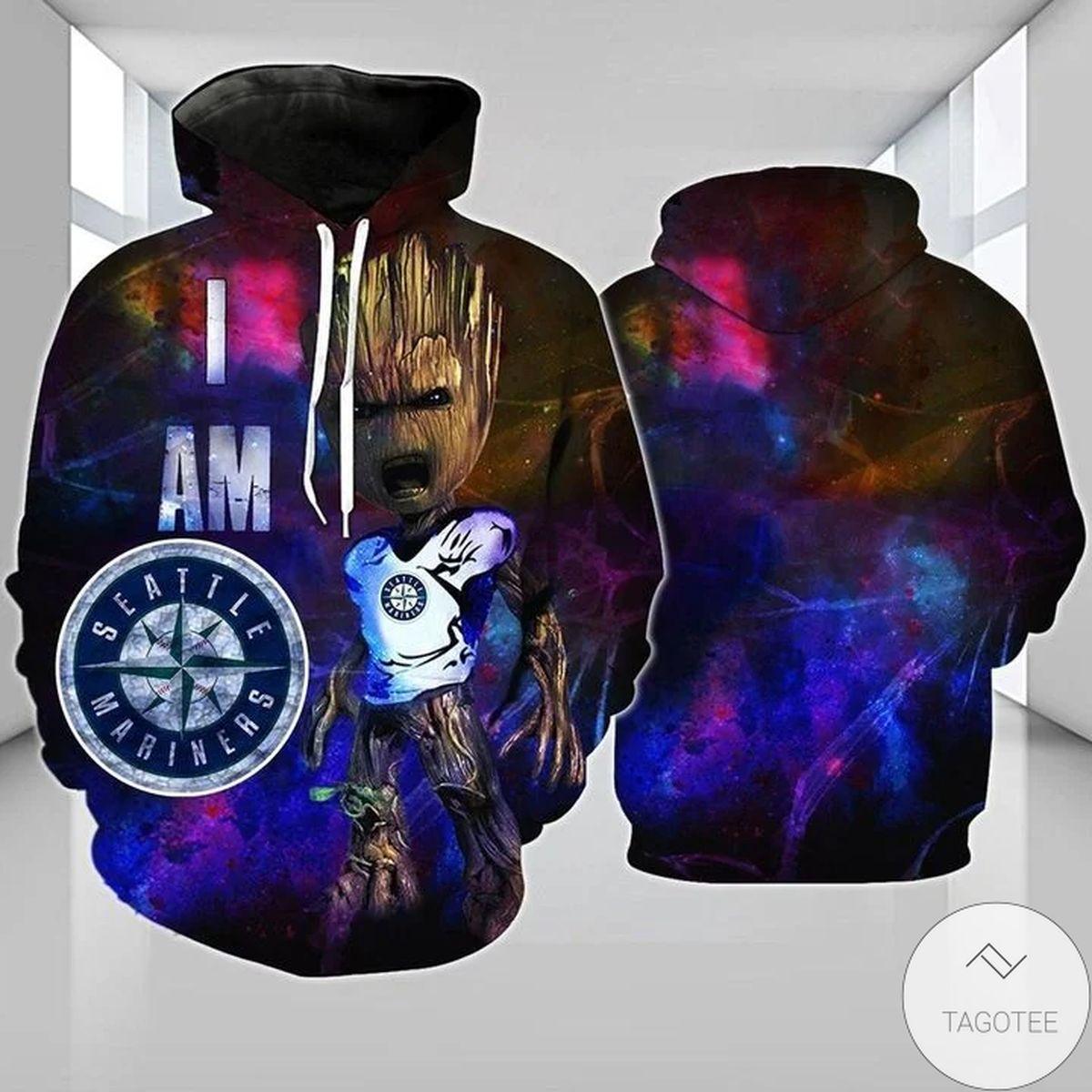 Seattle Mariners Groot 3D Hoodie