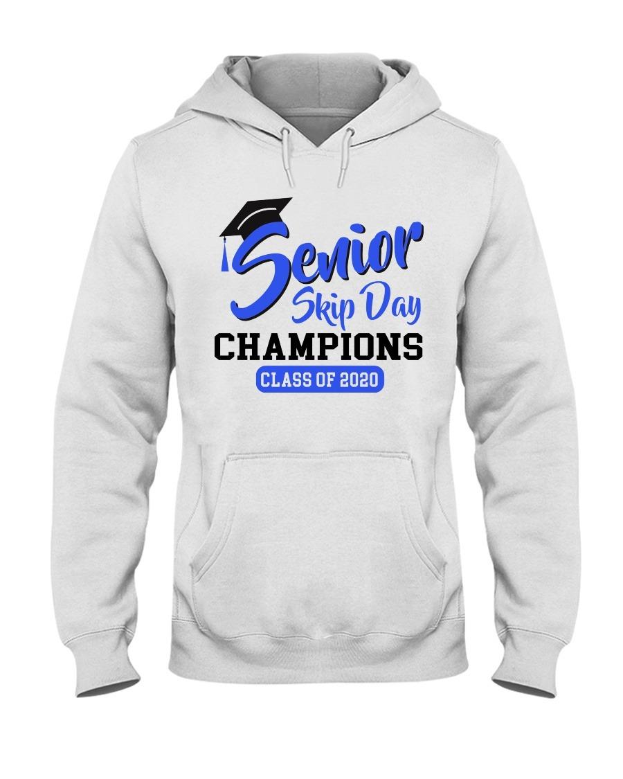 Senior 2020 Skip day champs blue version Hoodie