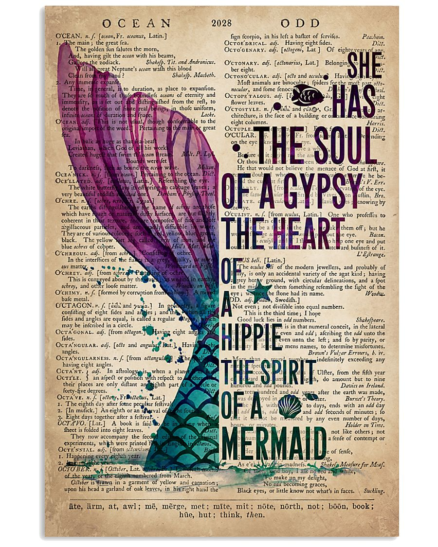 She has the soul of a gypsy the heart of a hippie and the spirit of a mermaid poster 1