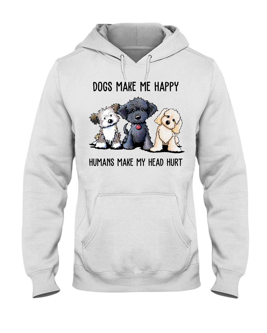 Shih Tzu Dogs Make Me Happy Humans Make My Head Hurt Hoodie