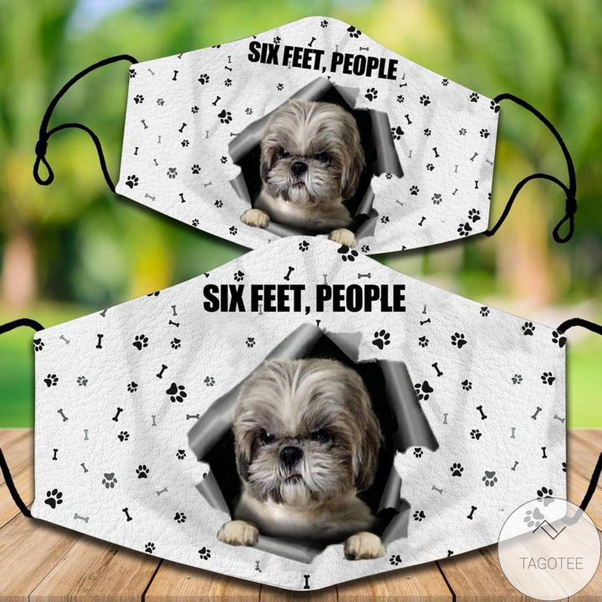 Shih Tzu Six Feet People Face Mask