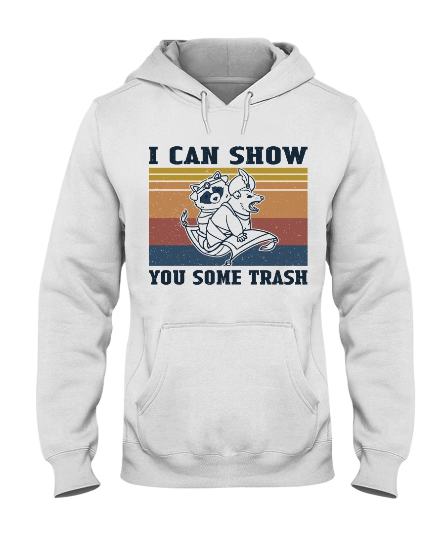 Show You Some Trash Raccoon Retro hoodie
