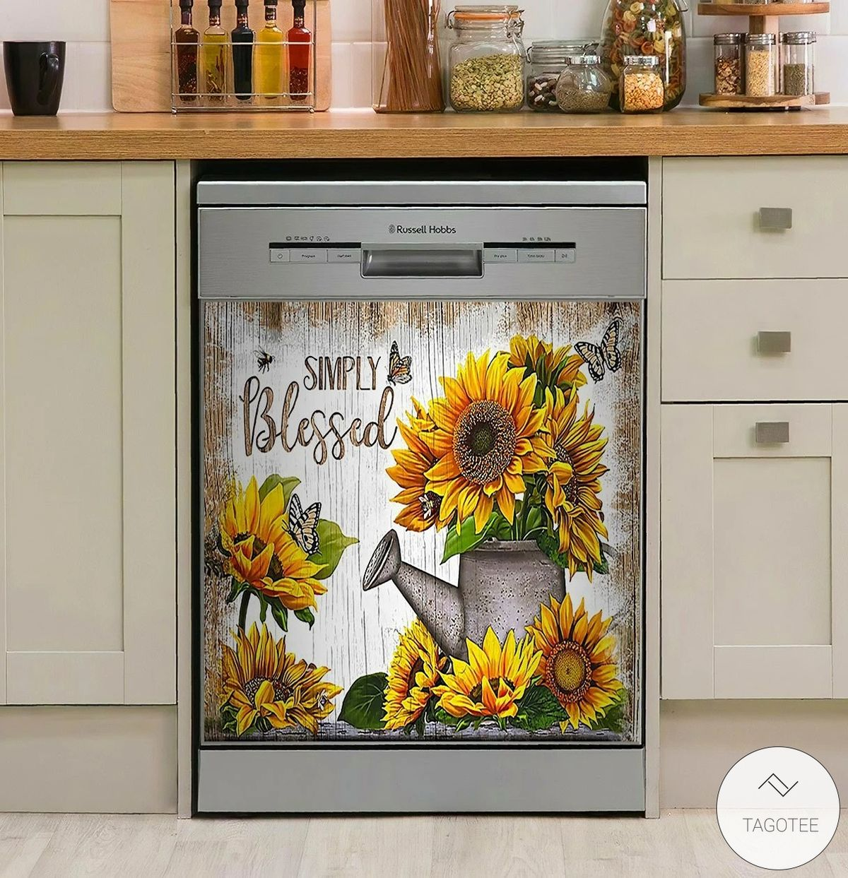 Simply Blessed Sunflower Dishwasher Cover