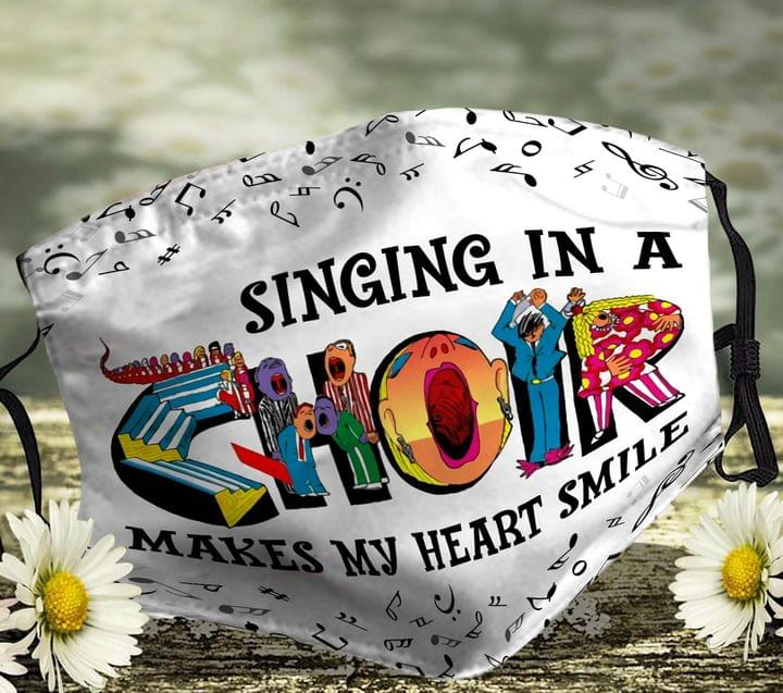 Singing In A Choir Make My Heart Smile Face Mask 0