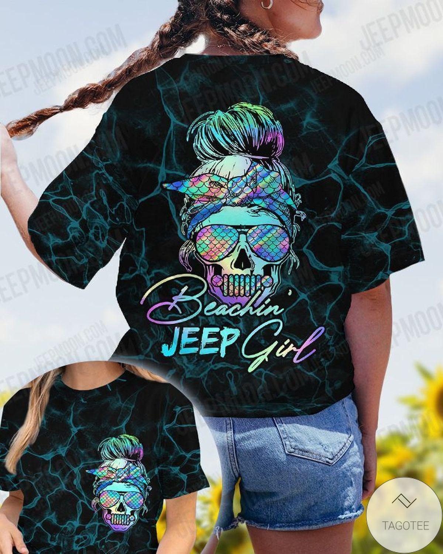 Skull Beachin' Jeep Girl T-Shirt