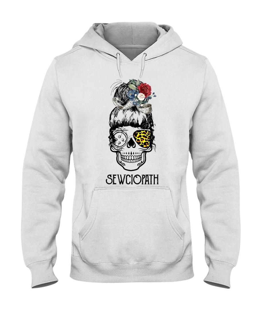 Skull Lady Sewing Sewciopath hoodie