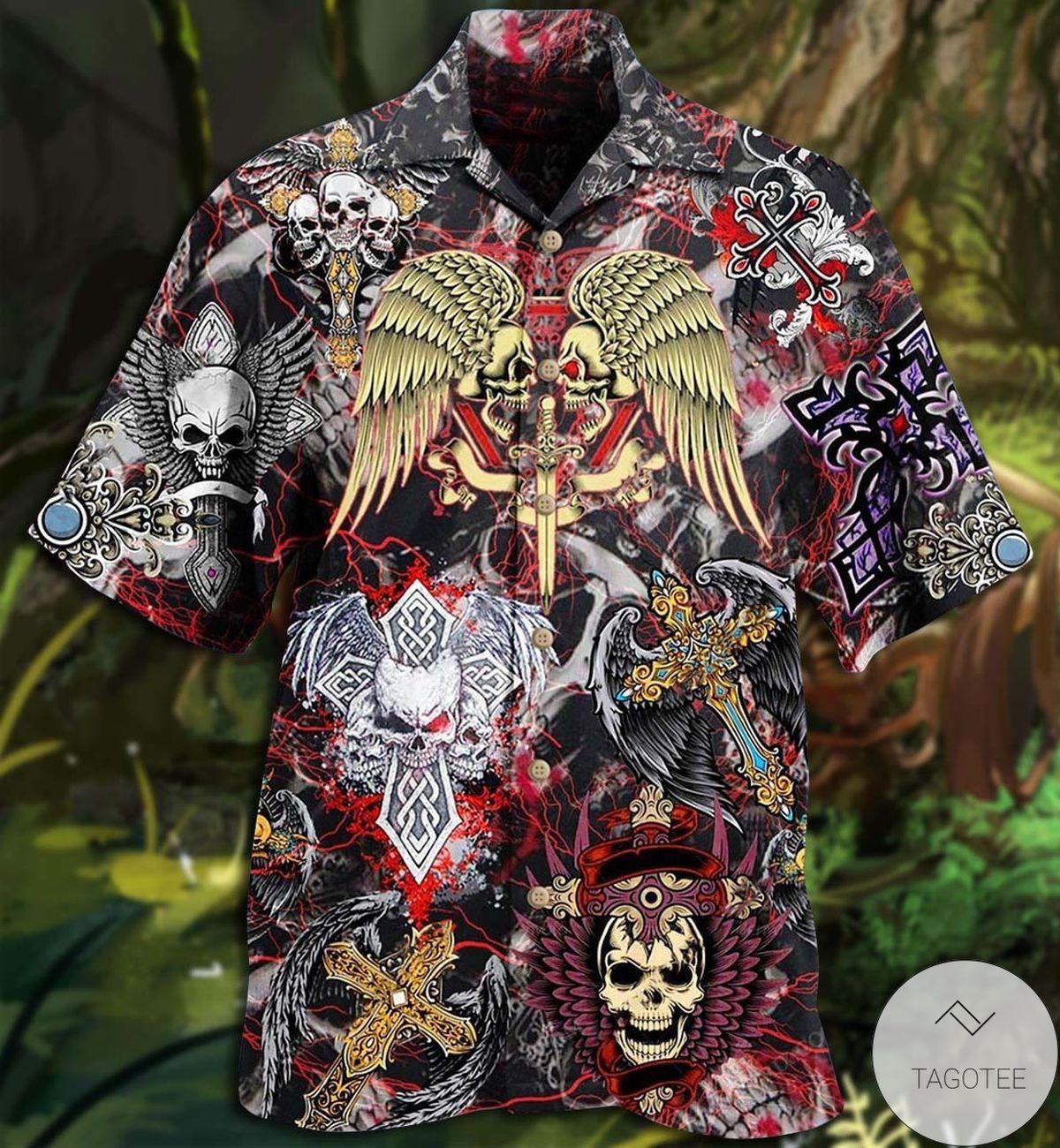 Skull Loves Key Hawaiian Shirt