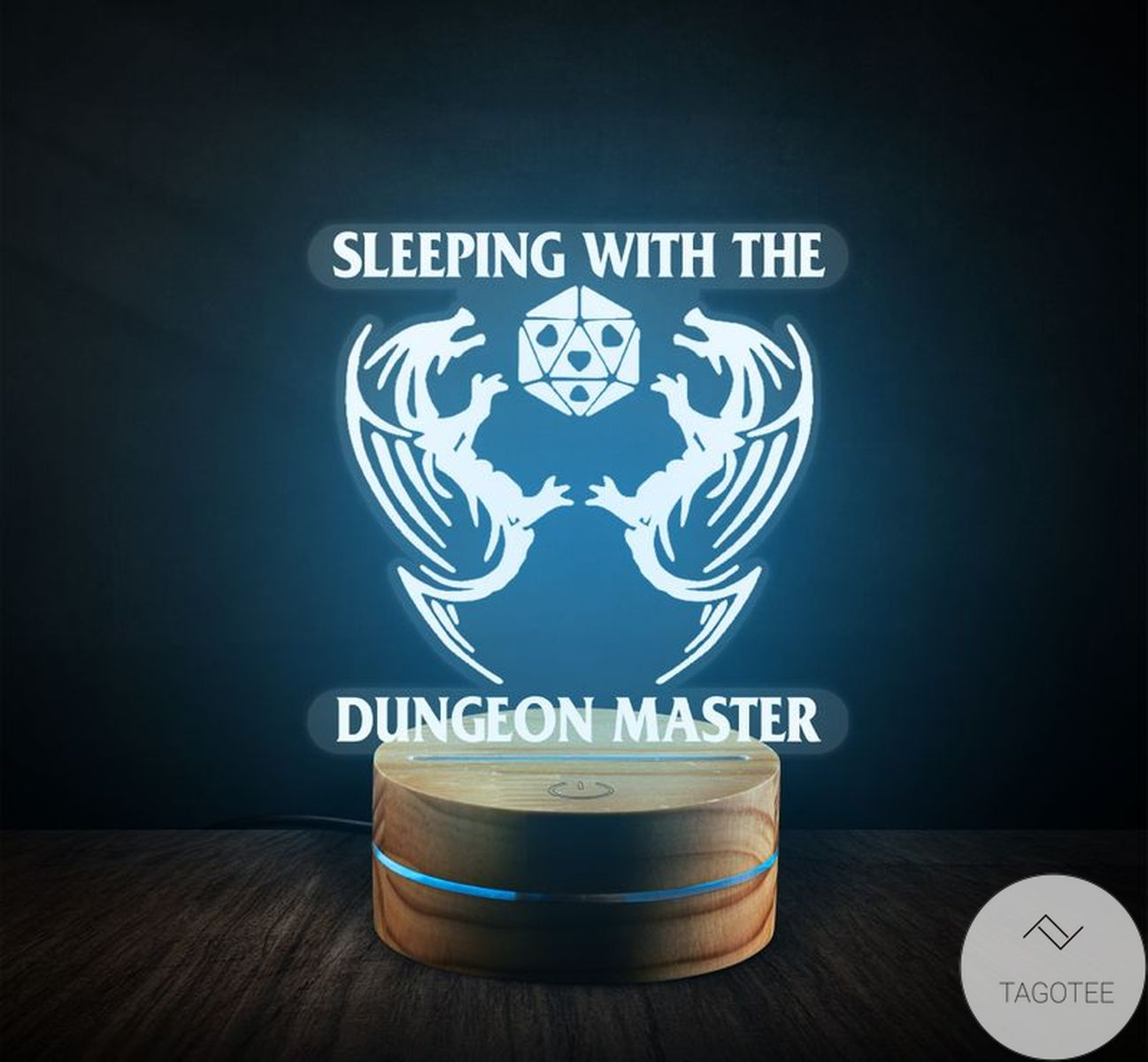 Sleeping With The Dungeon Master D&D UV LED Lamp, Night Light Lamps