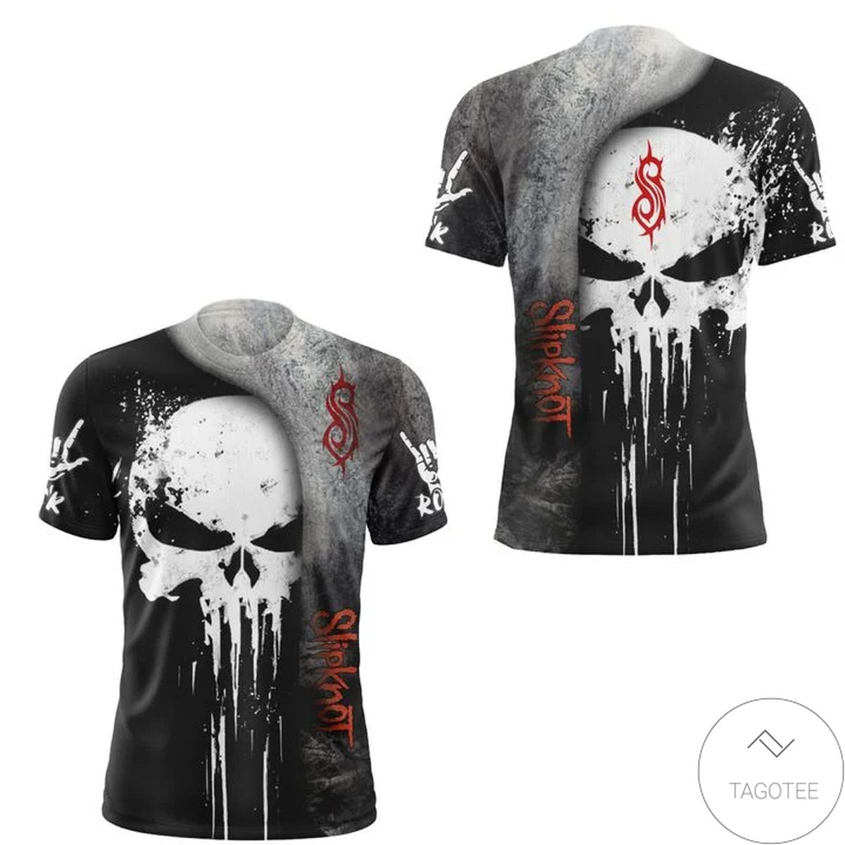 Slipknot Punisher Skull 3D All Over Print T-Shirt and Hoodie