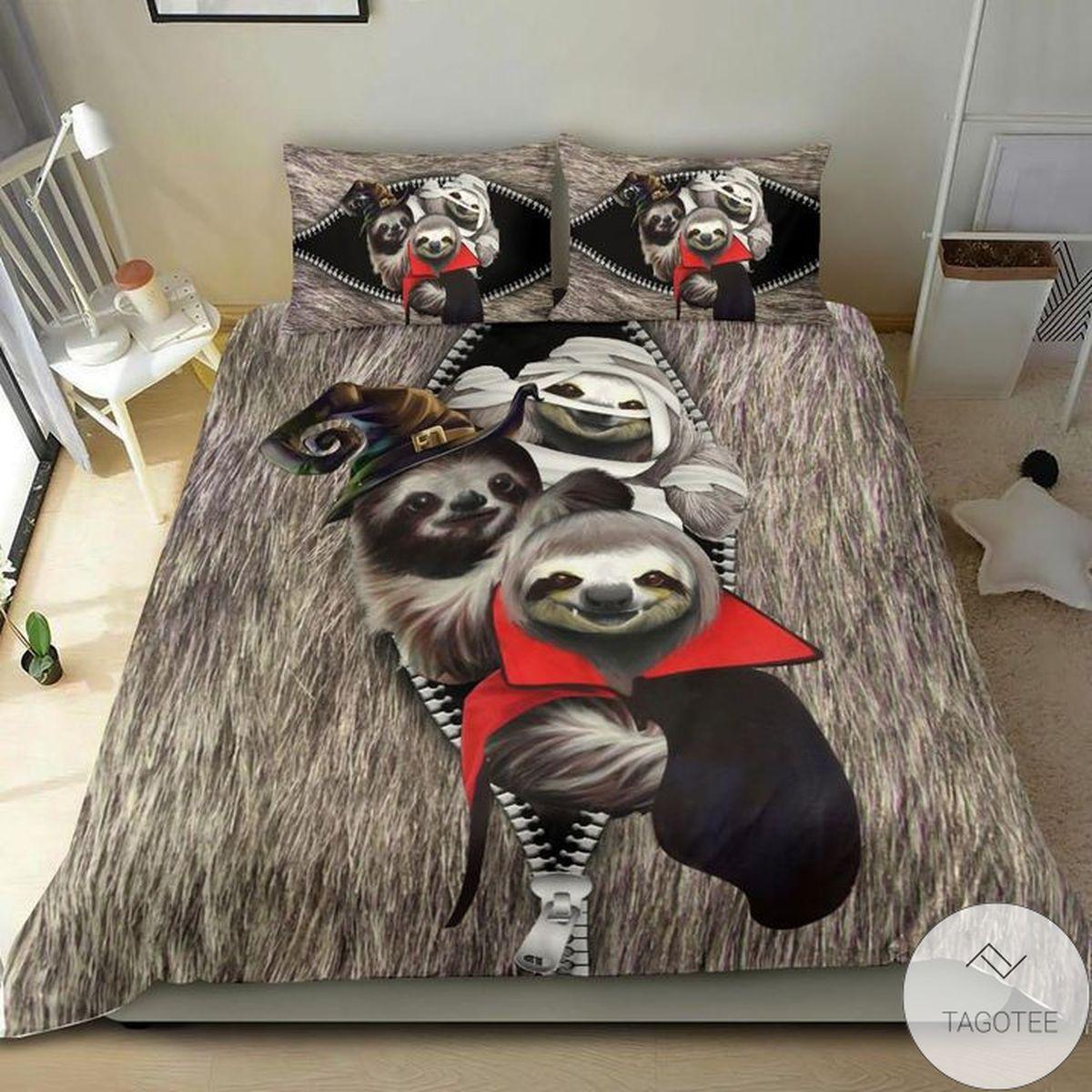 Amazing Sloth Costume Halloween Bedding Set