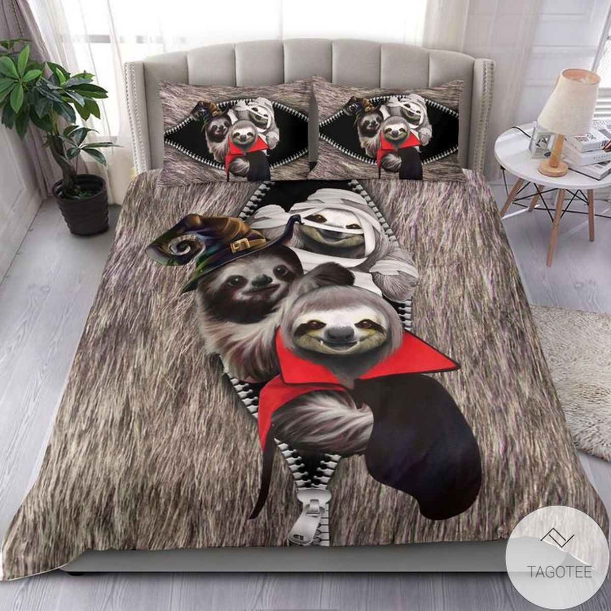 Sloth Costume Halloween Bedding Set