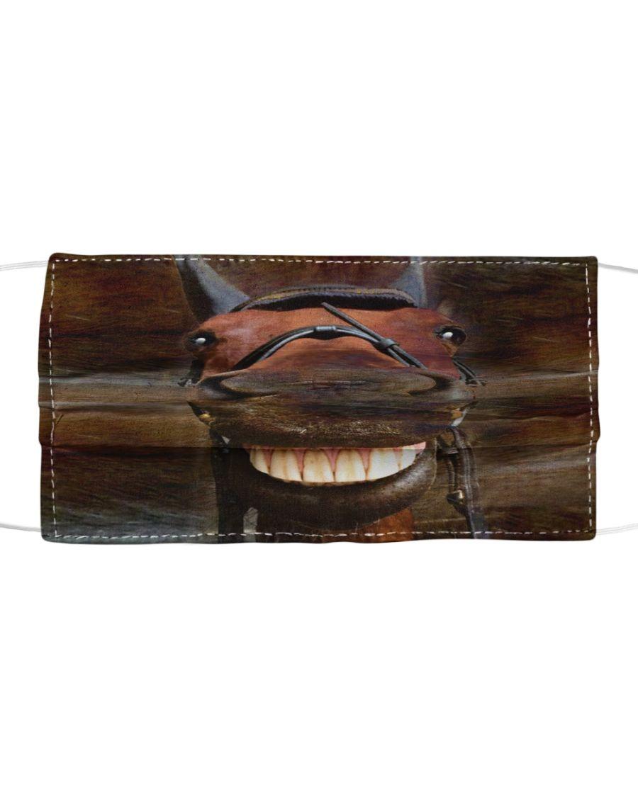 Smiling horse 3D face mask1