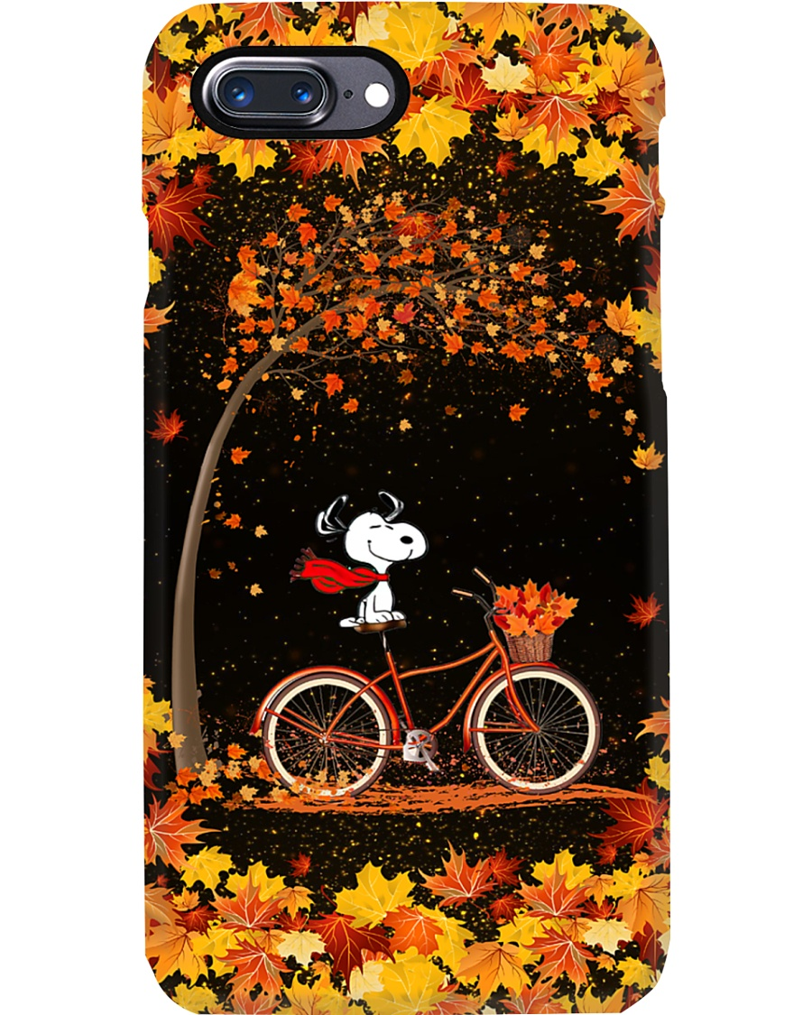 Snoopy Autumn phone case 7