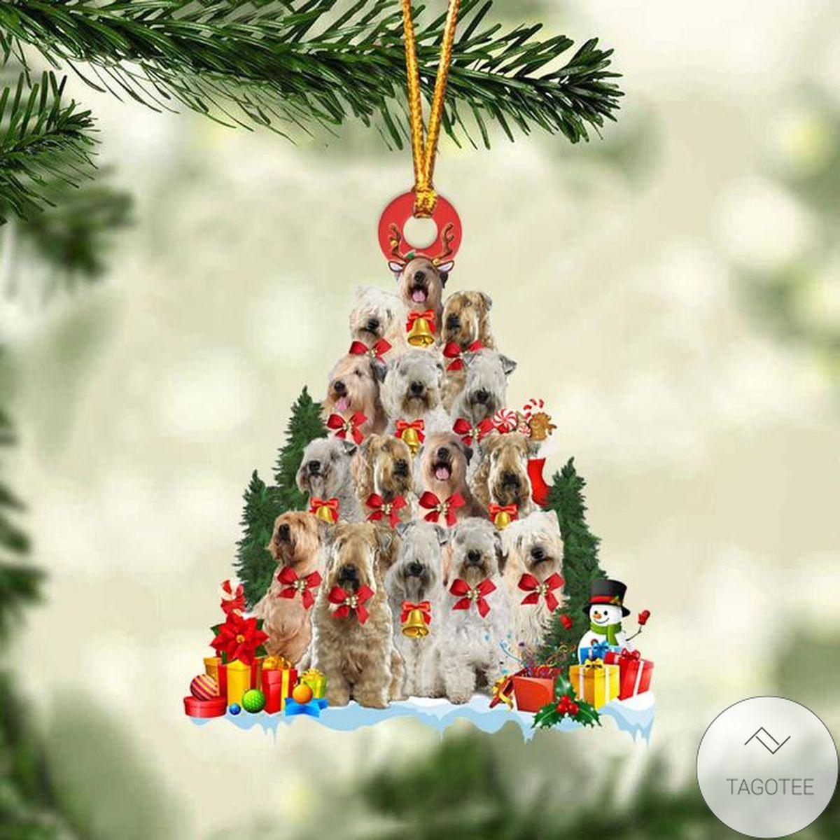 Soft Coated Wheaten Terrier Dog Christmas Tree Ornament