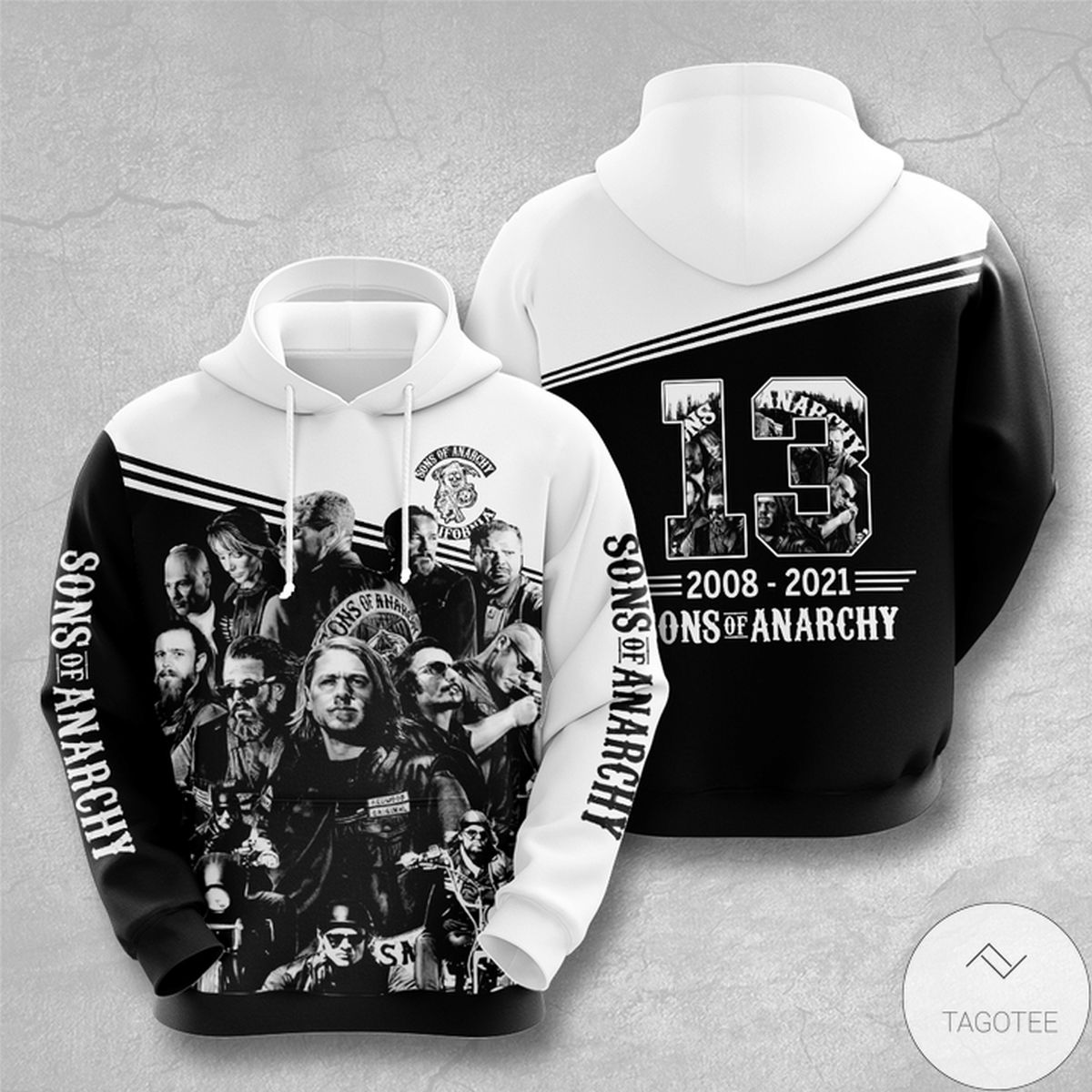 Free Ship Sons Of Anarchy 13 Years Anniversary 3d Hoodie
